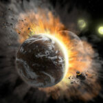 SOFIA Spots Debris from Catastrophic Collision between Two Rocky Exoplanets