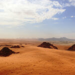 Stone Age humans or their relatives occasionally trekked through a green Arabia